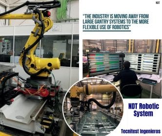 NDT Robotic System,Sistema robotizado de END