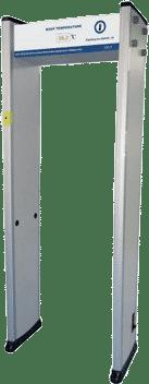 Escáner de temperatura en pórtico de paso